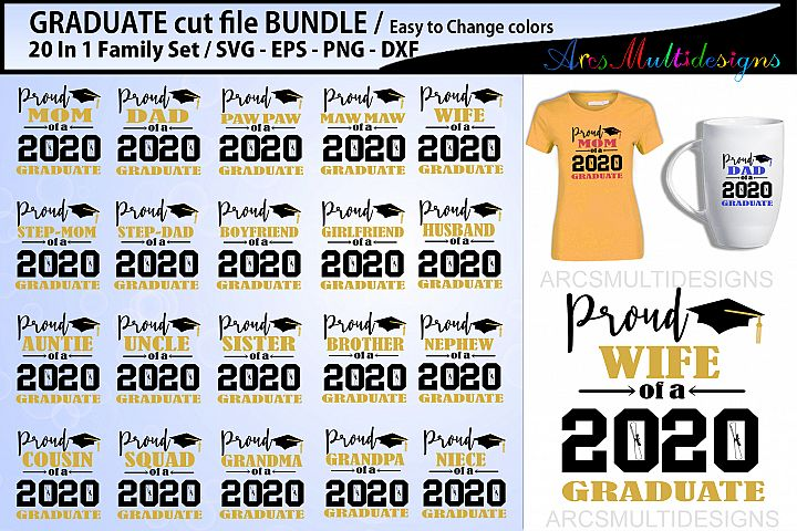 Proud Graduate Cutting file bundle 2020 / family bundle