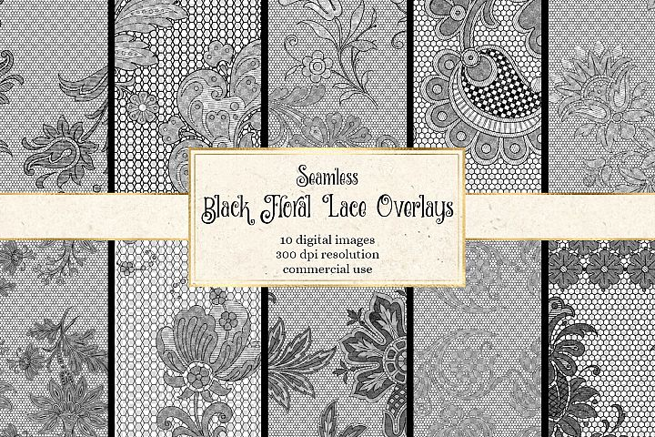 Black Lace Overlays