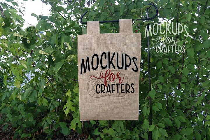 MOCK-UP - Tab Top Burlap Flag 12x18,