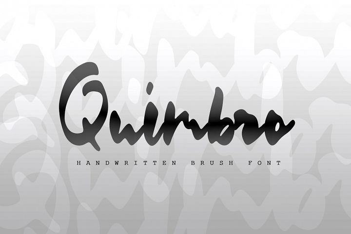 Quimbro | Handwritten brush font
