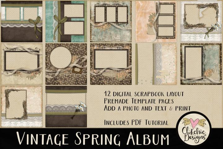 Quick Page Album - Digital Scrapbook Layouts, Spring