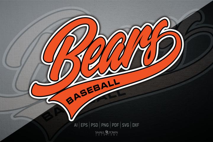 Bear, Bear baseball, Bear Mascot svg, PRINT, CUT & DESIGN