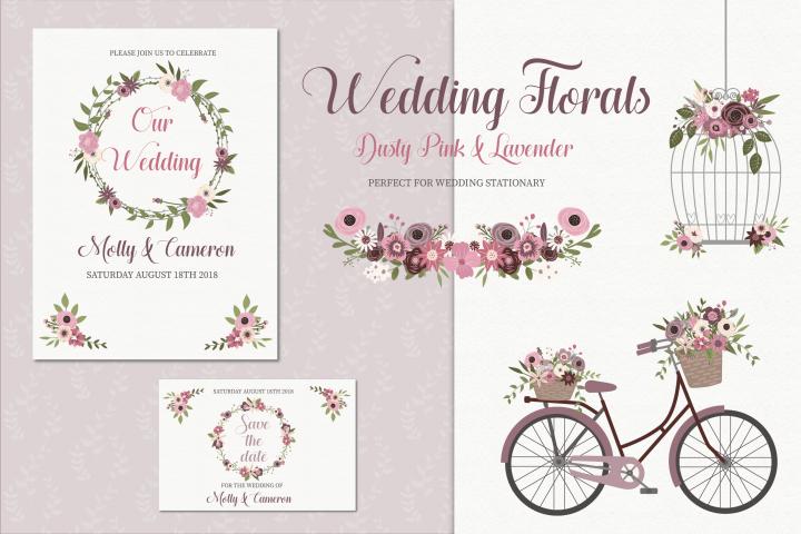 Wedding florals clipart