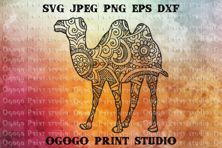 Mandala style Camel SVG, Zentangle SVG, Desert Animal Svg