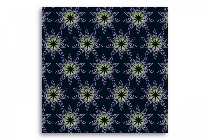 Seamless pattern Night flower glade