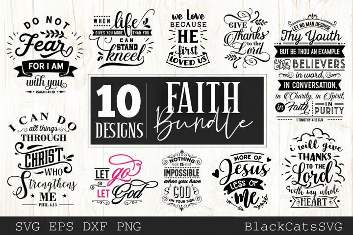 Faith SVG bundle 10 designs Christian SVG bundle vol 2