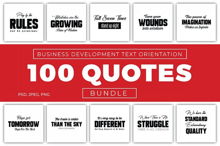 100 Business Quotes Bundle
