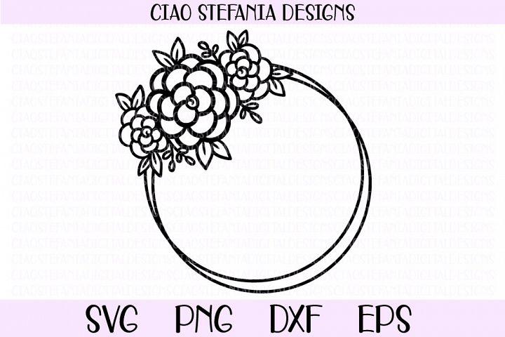 Flower Geometric Circle Frame Wedding SVG PNG DXF EPS Cut