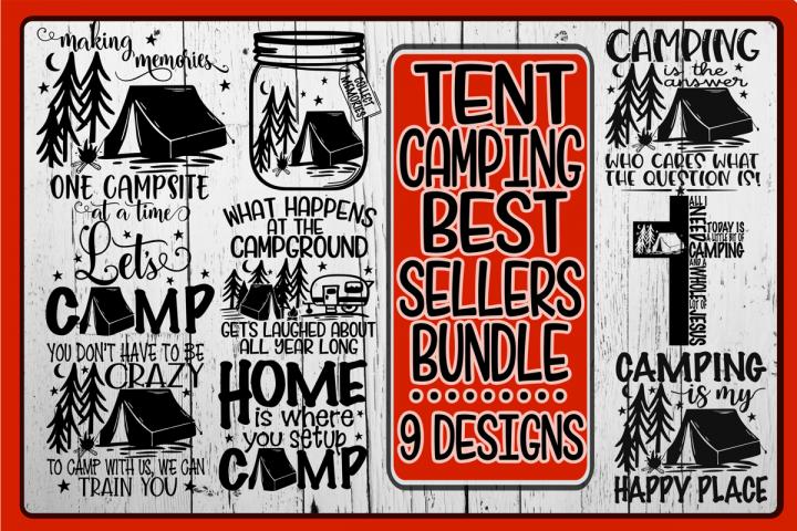 Tent Camping Bundle - Best Sellers - 9 Designs - Vol 2