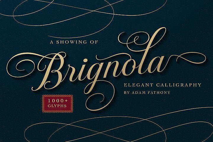 Brignola Elegant Calligraphy