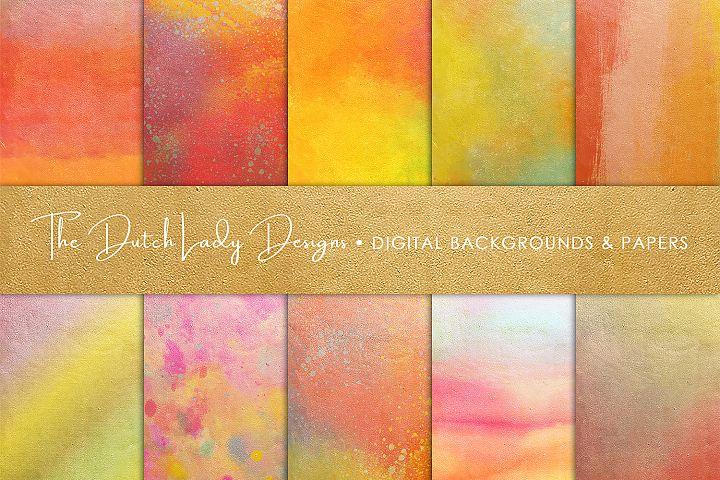 Golden Rainbow Scrapbook Papers