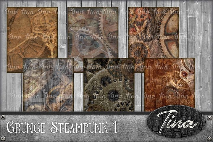 48pc Set - Grunge Steampunk Digital Scrapbooking, Gears, Clocks, Tags, Decoupage, Cards, Manly, Men, Husband, Son, Cosplay