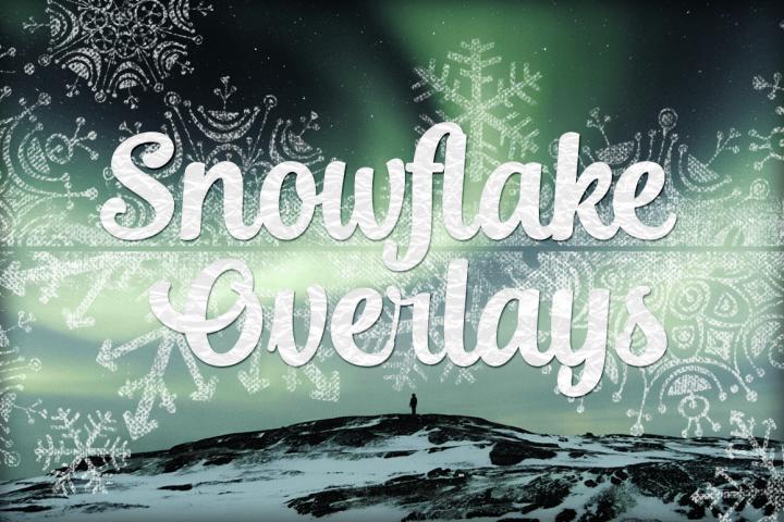 Snowflake Textures - Grunge Textured Snowflake Overlays