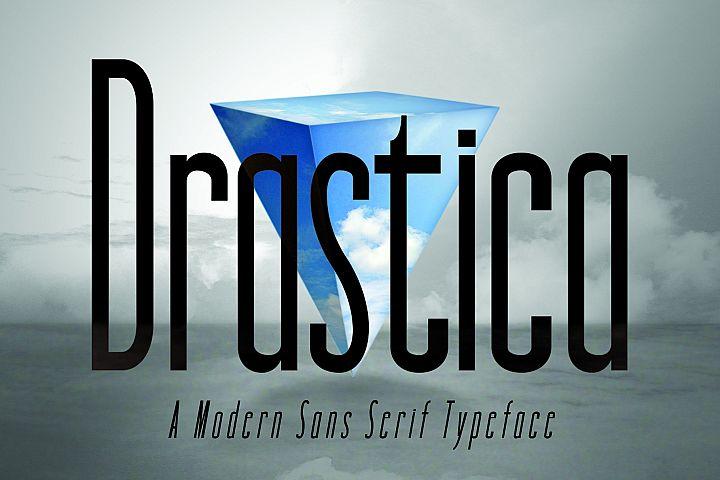 DRASTICA, A Modern Typeface