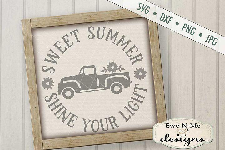 Sweet Summer Shine Your Light Vintage Truck SVG DXF Files