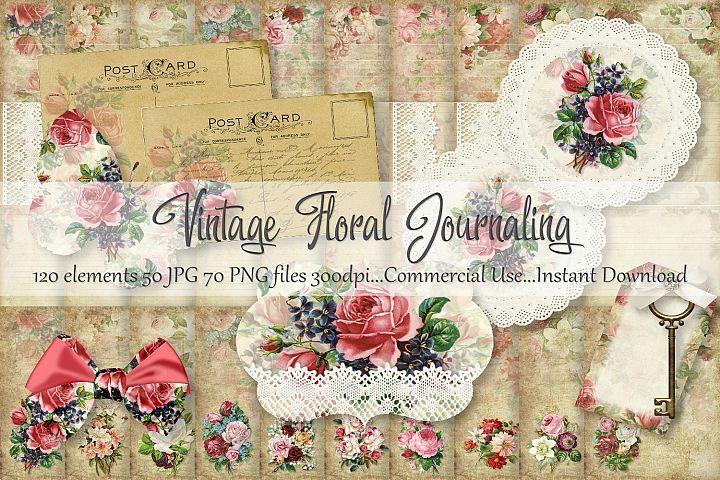 Vintage Floral Journaling