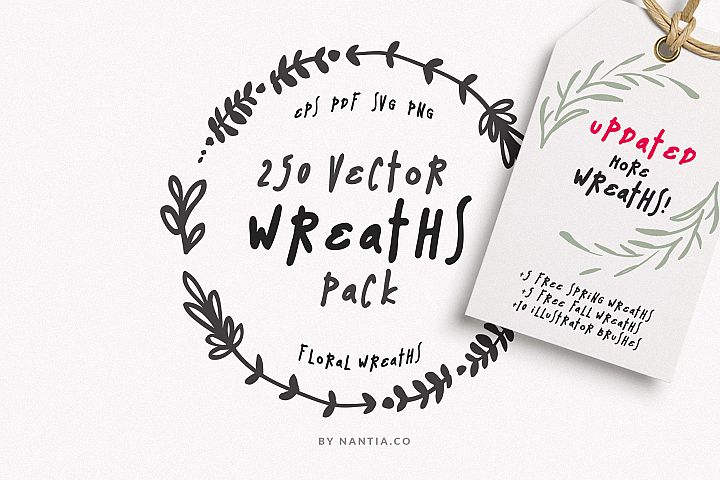 250 Wreaths Vector MEGA Pack