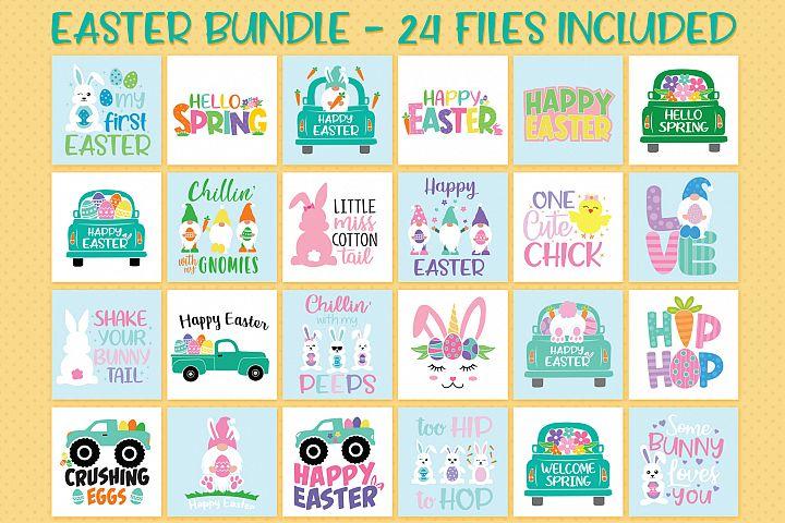 Easter Bundle Svg, Spring Bundle, Colorful Easter Svg