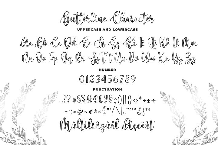 Butterline - Modern Script Font example image 5