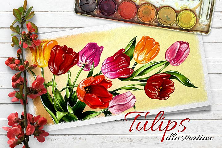 Tulips digital painting example