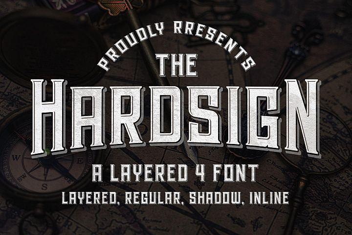 Hardsign - Layered Vintage Font
