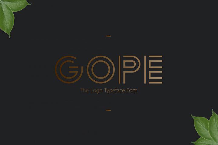 Logo Font!! Gope Typeface