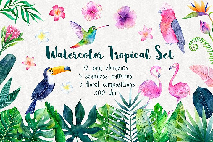 Tropical Watercolor Set