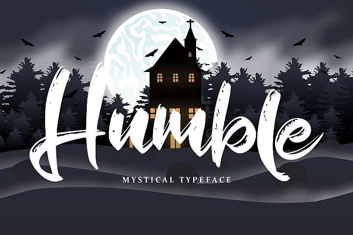 Humble | Mystical Typeface