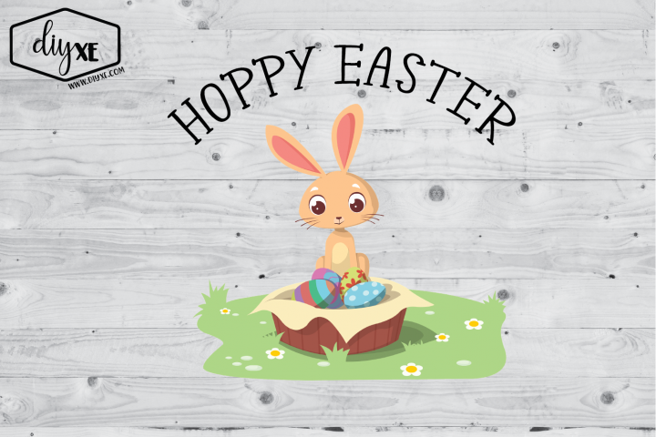 Hoppy Easter - Easter Sublimation Graphic