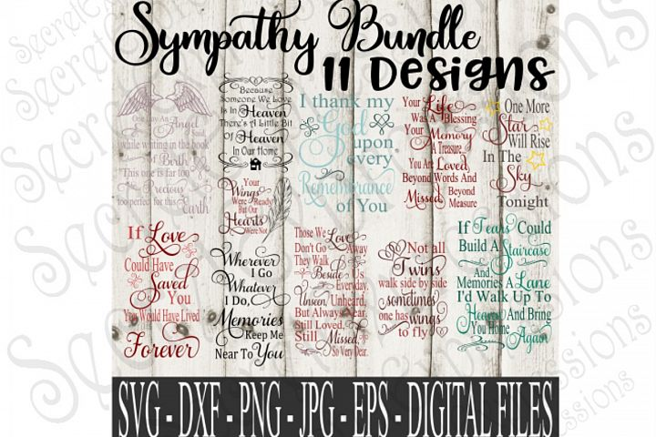 Sympathy SVG Bundle Memorial SVG Set