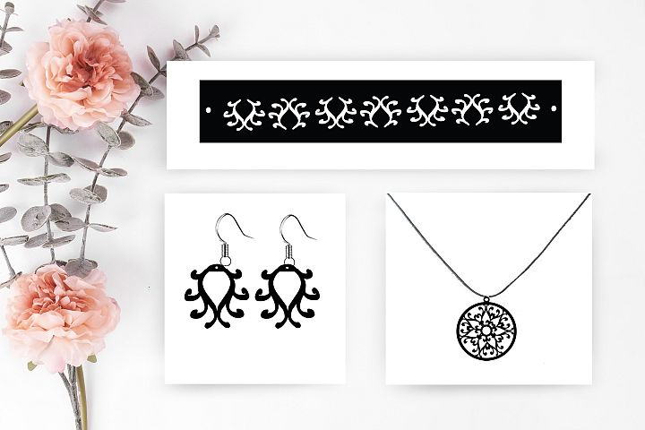 Earrings SVG,bracelet svg,earrings cut file, necklace svg