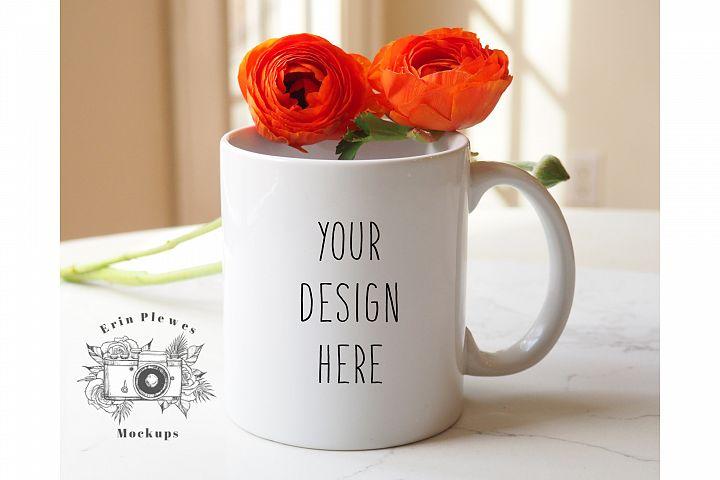 11 oz White Coffee Mug Mockup - Mothers Day Mug Mock-up