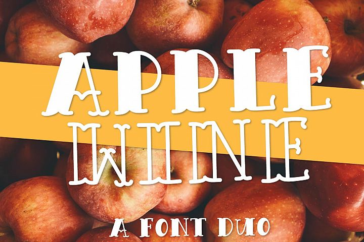 Apple Wine - A Hand Lettered Font Duo With Outline & Filled