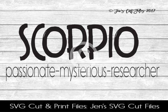 Scorpio SVG Cut File
