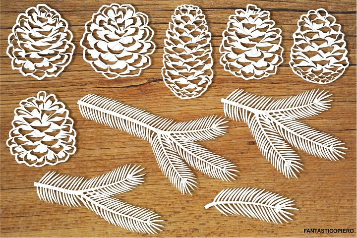 Pine cones and Pine branches SVG Files.