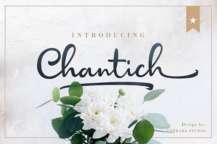 Chantich Script Font