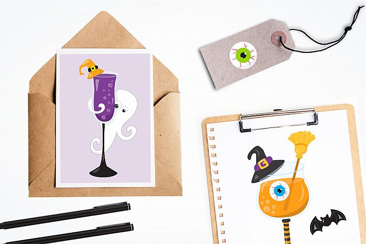 Halloween Cocktails graphics and illustrations - Free Design of The Week Design2