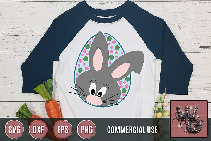 Easter Bunny Egg Peekaboo SVG DXF PNG EPS Commercial
