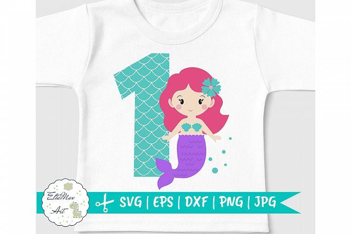 Birthday Mermaid SVG, Mermaid SVG, Mermaid Girl svg