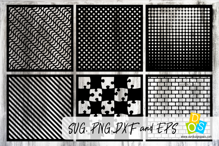 Stencils & Patterns 5 SVG, PNG, DXF and EPS files