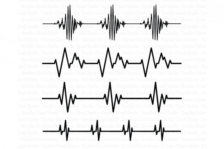 Heartbeat SVG, Cardio Files, Heart Beat line SVG