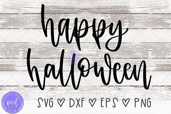 Happy Halloween Hand-Drawn Cut File