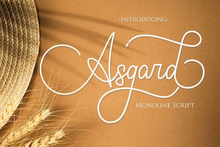 Asgard | Beautiful Monoline Script