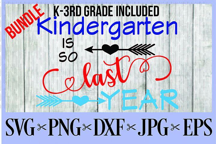 BUNDLE Kindergarten, First, Second, AND Third grade is so la