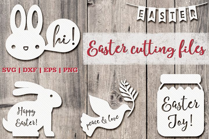 Set of Easter cutting files