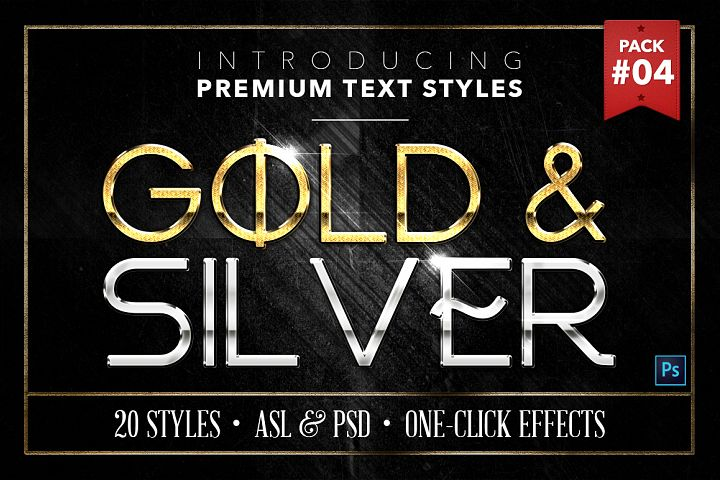 Gold & Silver #4 - 20 Text Styles