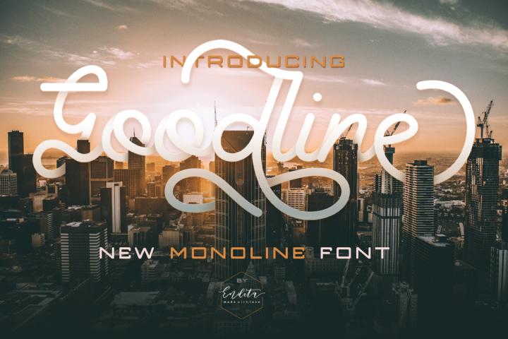 Goodline - Monoline Font + Extras