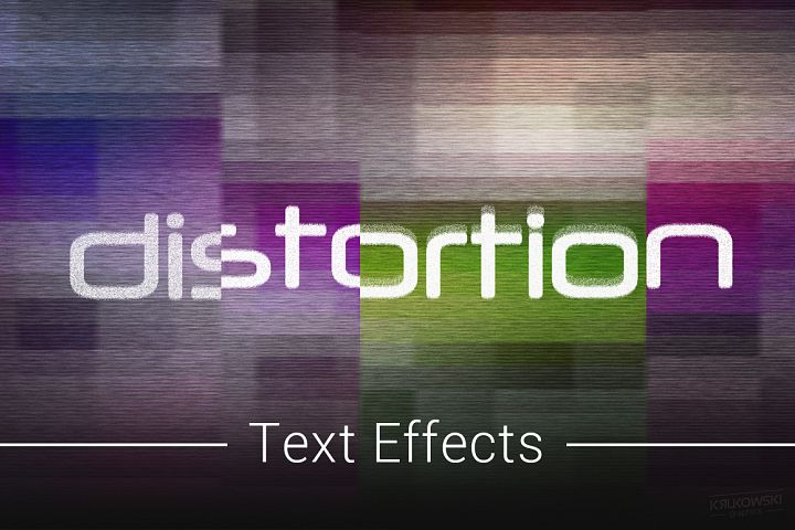 Digital Distortion Text Effects