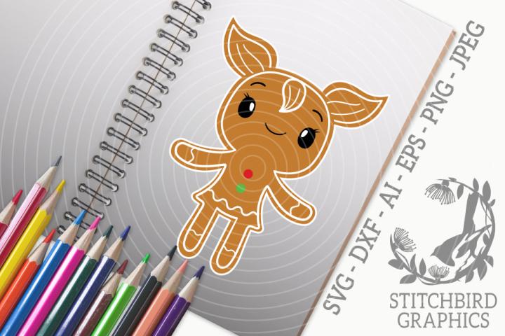 Cute Gingerbread Girl SVG, Silhouette Studio, Cricut, Eps