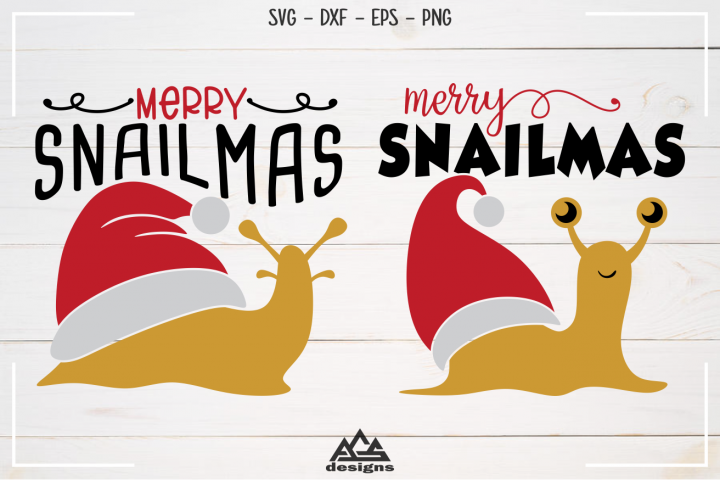 Snail Merry SnailMas Svg Design